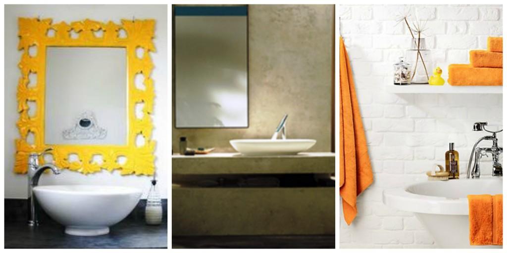 rama oglinda, suport sapun, prosoape colorate